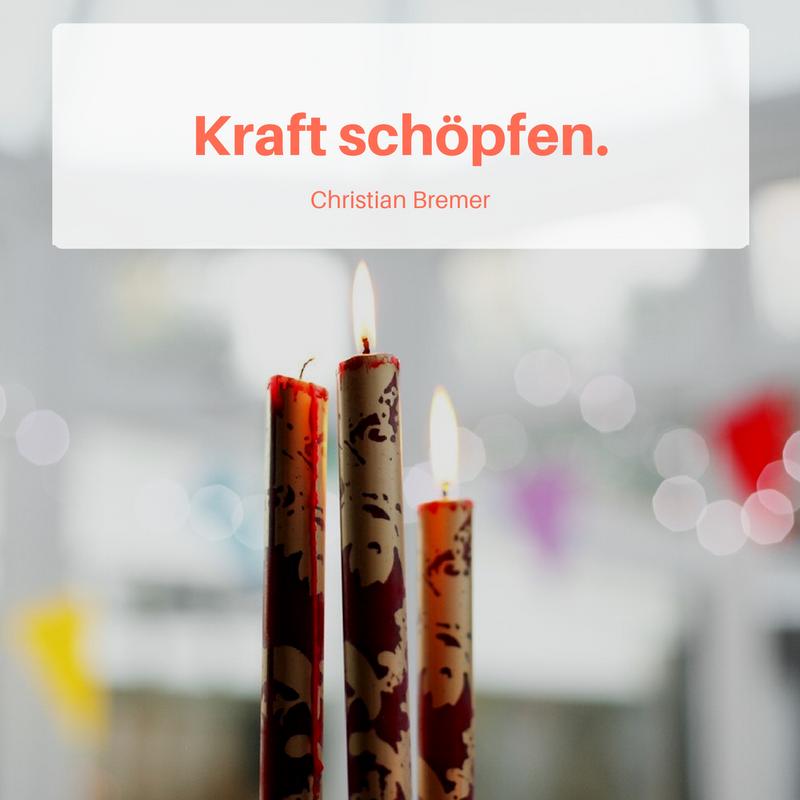 2. Advent Kraft schöpfen.