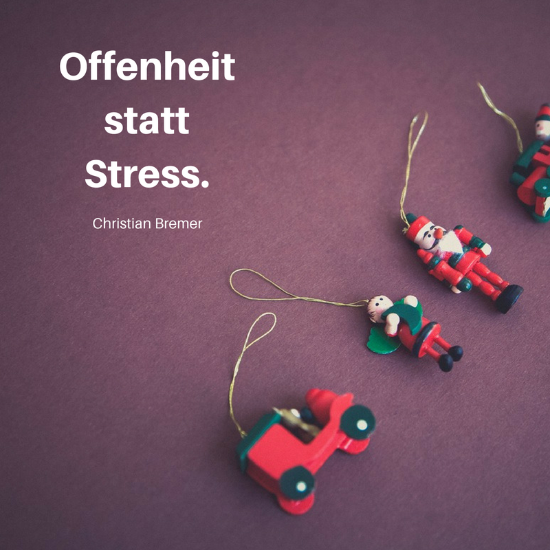 1. Advent: Offenheit statt Stress.
