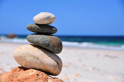 Halte die Balance